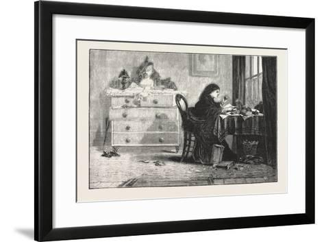 Reading for a Degree. 1876--Framed Art Print