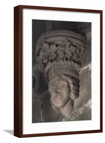 Relief in Form of a Male Head with a Crown of Grape Leaves--Framed Art Print