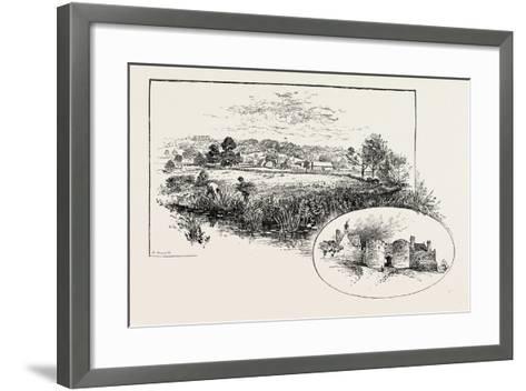 Rockingham Village and Castle (Left)--Framed Art Print
