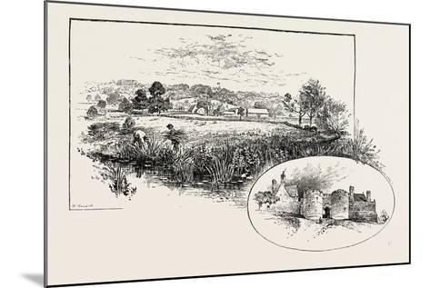 Rockingham Village and Castle (Left)--Mounted Giclee Print