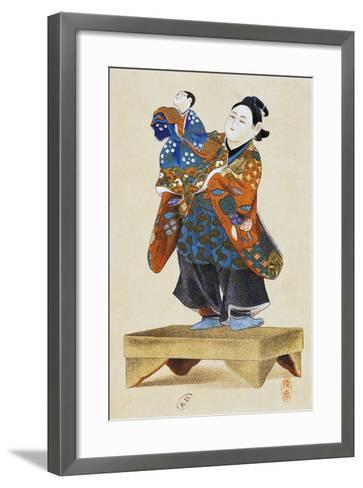 Puppeteer with Puppet--Framed Art Print