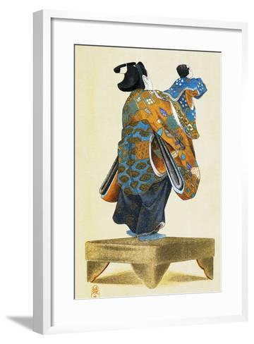 Puppeteer with Puppet Seen from Behind--Framed Art Print