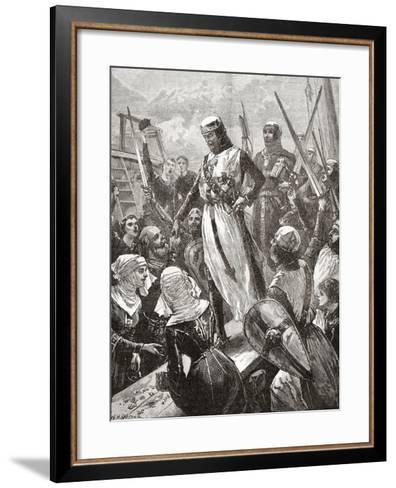 Reception of Richard in 1194--Framed Art Print