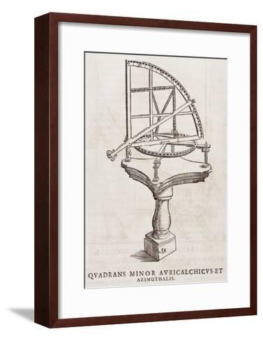 Quadrans Minor Avrichalchicus Et Azimuthalis--Framed Art Print