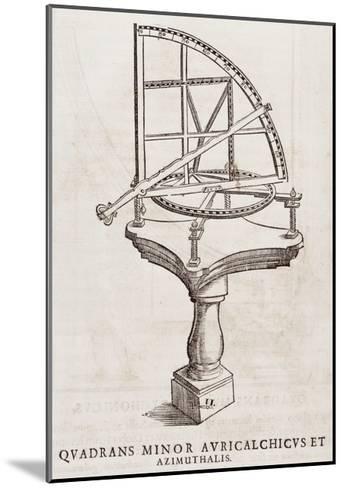 Quadrans Minor Avrichalchicus Et Azimuthalis--Mounted Giclee Print