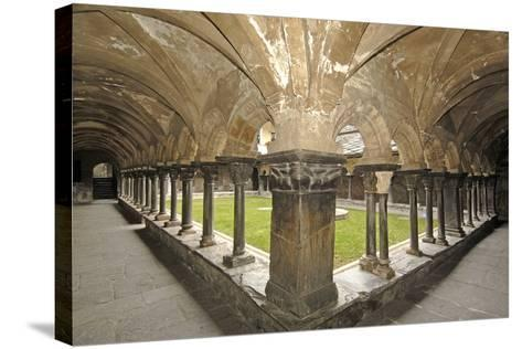 Romanesque Cloister (Built Circa 1133 and Renovated in 15th Century) of Collegiate Church of Saint--Stretched Canvas Print