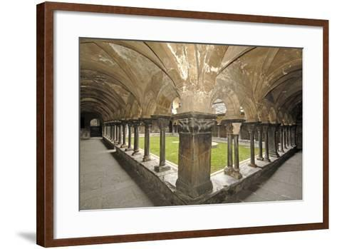 Romanesque Cloister (Built Circa 1133 and Renovated in 15th Century) of Collegiate Church of Saint--Framed Art Print