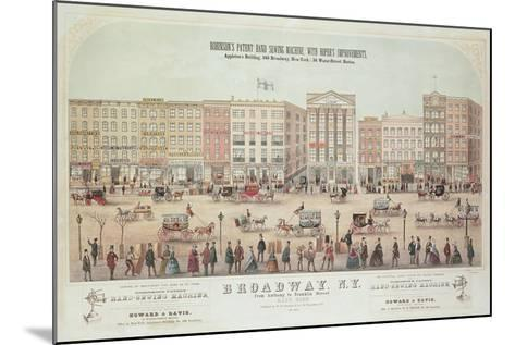 Poster of a View of Broadway--Mounted Giclee Print