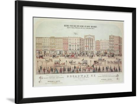 Poster of a View of Broadway--Framed Art Print