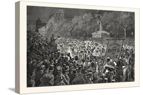 Republican Enthusiasm in New York--Stretched Canvas Print