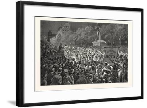 Republican Enthusiasm in New York--Framed Art Print