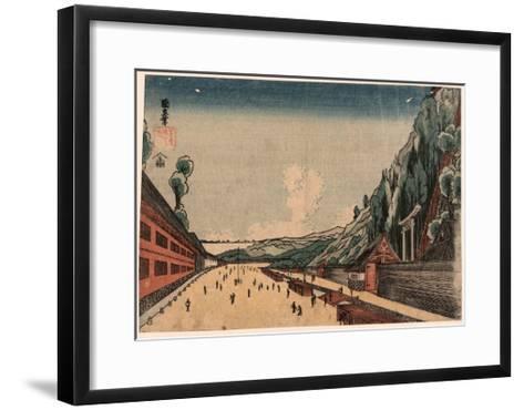 Shiba Atagoyama No Zu--Framed Art Print