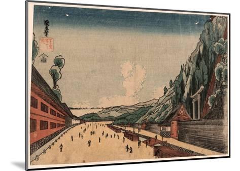 Shiba Atagoyama No Zu--Mounted Giclee Print