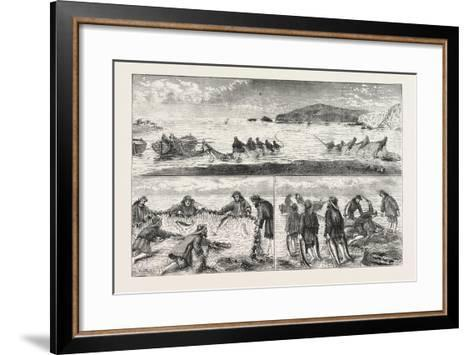 Salmon Fishing: Fishing Salmon--Framed Art Print
