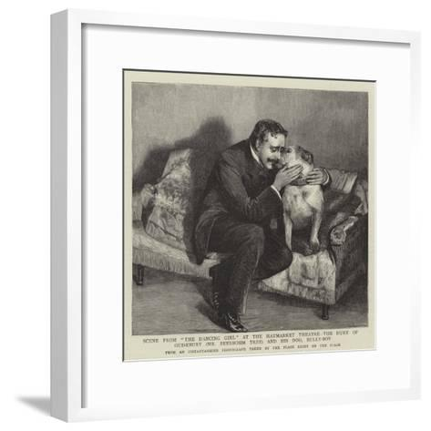 Scene from The Dancing Girl at the Haymarket Theatre--Framed Art Print
