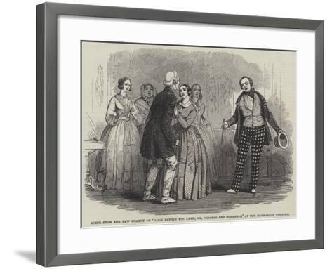 Scene from the New Comedy of Look before You Leap; Or--Framed Art Print