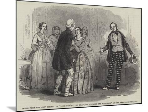 Scene from the New Comedy of Look before You Leap; Or--Mounted Giclee Print