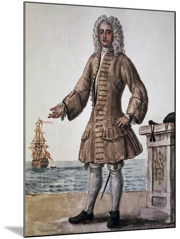 Ship's Captain of the Venetian Republic--Mounted Giclee Print