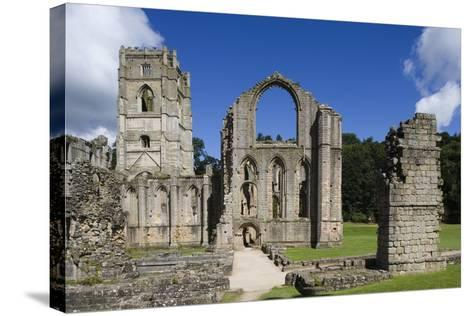Ruins of Fountains Abbey--Stretched Canvas Print