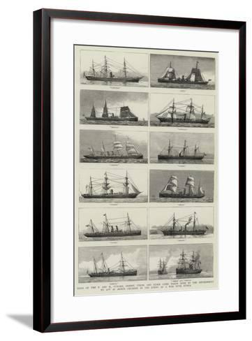 Ships of the P and O--Framed Art Print