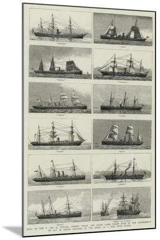 Ships of the P and O--Mounted Giclee Print