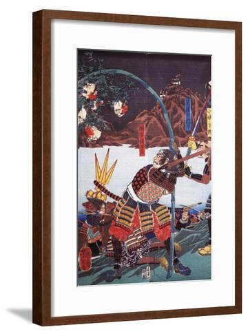 Samurai Displaying Severed Heads of their Enemies on Bamboo Canes--Framed Art Print
