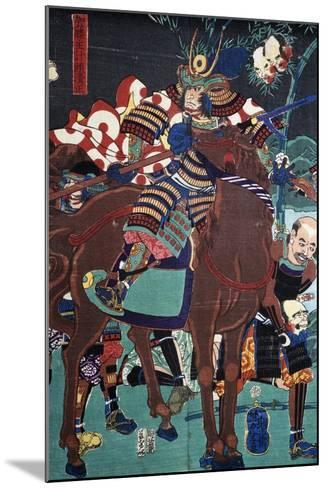 Samurai on Horseback Preparing to Go Battle--Mounted Giclee Print