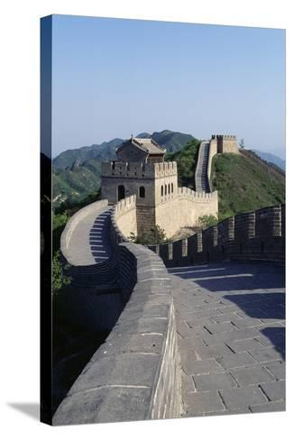 Section of Great Wall at Badaling--Stretched Canvas Print