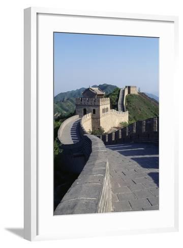 Section of Great Wall at Badaling--Framed Art Print