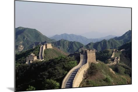 Section of Great Wall at Badaling--Mounted Giclee Print