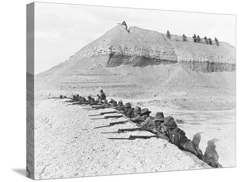 Side View of Men of the 5th Australian Light Horse Brigade--Stretched Canvas Print