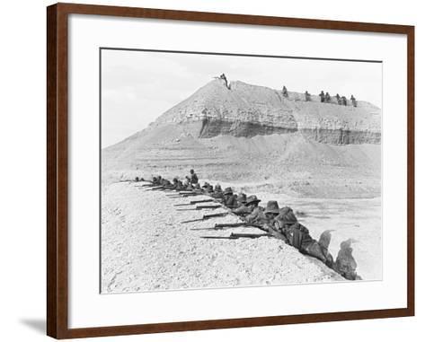 Side View of Men of the 5th Australian Light Horse Brigade--Framed Art Print