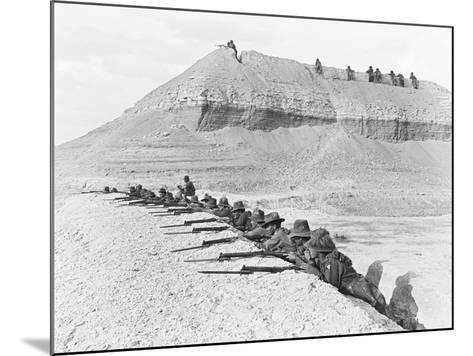 Side View of Men of the 5th Australian Light Horse Brigade--Mounted Photographic Print