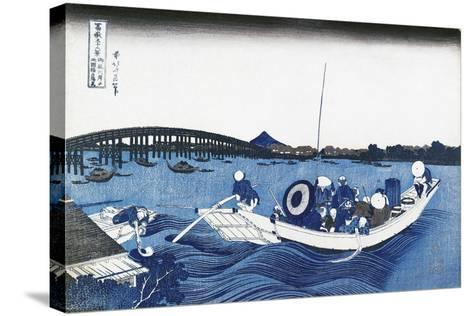 Ryogoku Bridge at Night from the Oumaja Side--Stretched Canvas Print