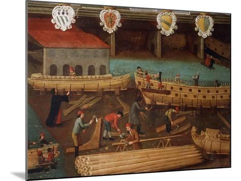 Signboard of Guild of Ship Carpentry in Arsenale of Venice--Mounted Giclee Print
