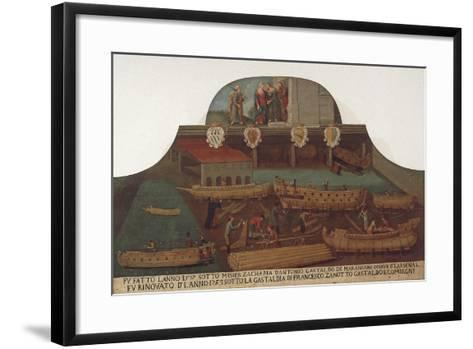 Signboard of the Guild of Ship Carpentry in the Arsenale of Venice--Framed Art Print