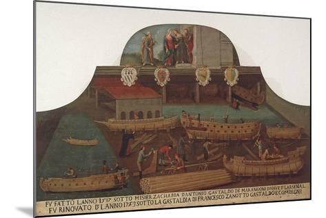 Signboard of the Guild of Ship Carpentry in the Arsenale of Venice--Mounted Giclee Print