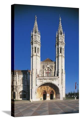 South Entrance to Jeronimos Monastery (Hieronymites Monastery)--Stretched Canvas Print