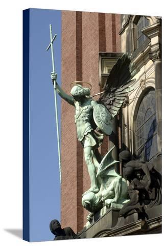 St Michael Defeating Devil--Stretched Canvas Print