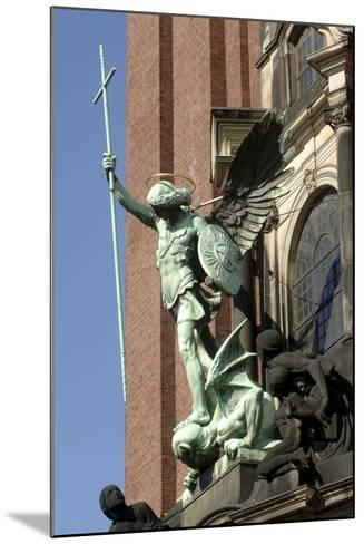 St Michael Defeating Devil--Mounted Photographic Print
