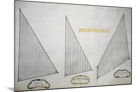 Sails of Minor Xebec from Atlas of Sailing by Gian Maria Maffioletti--Mounted Giclee Print