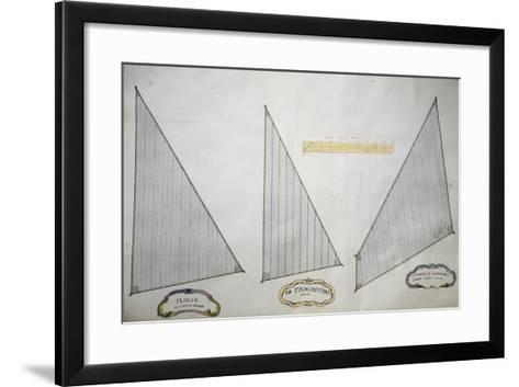 Sails of Minor Xebec from Atlas of Sailing by Gian Maria Maffioletti--Framed Art Print