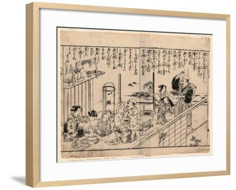 Setsubun Mamemaki--Framed Art Print