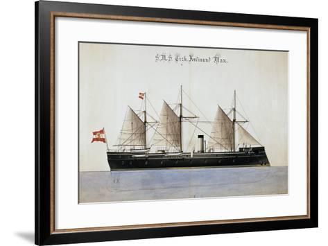 The Austrian Battleship the Erzherzog Ferdinand Max--Framed Art Print