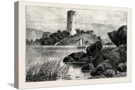 Stegeborg Castle. Stegeborg Castle Is a Ruined Castle in St Anna Parish--Stretched Canvas Print