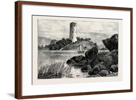 Stegeborg Castle. Stegeborg Castle Is a Ruined Castle in St Anna Parish--Framed Art Print
