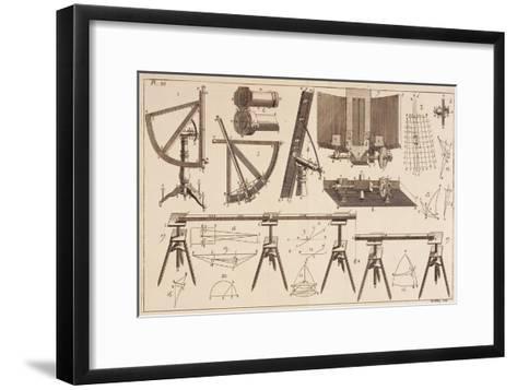 Survey Tools--Framed Art Print