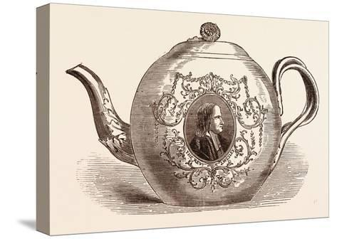 Teapot Presented to the Rev. John Wesley; Born June 17--Stretched Canvas Print