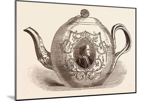 Teapot Presented to the Rev. John Wesley; Born June 17--Mounted Giclee Print