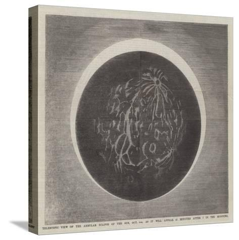 Telescopic View of the Annular Eclipse of the Sun--Stretched Canvas Print
